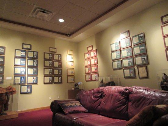 Furniture Design Hall Of Fame hall of fame room north dakota cowboy hall of fame medora, north