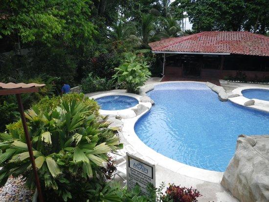 Agapi : Nice pool in dense jungle.