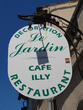 Le Jardin : Entrada do restaurante.
