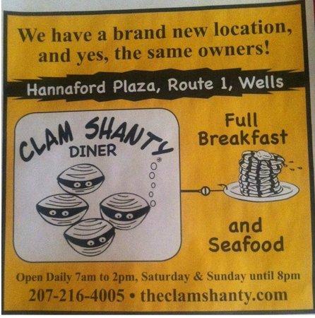Clam Shanty: Breakfast Location