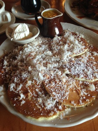 The best coconut pancakes.  Ever.