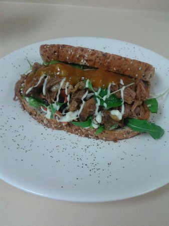 Little Kitchen on the bay: Open Lamb Sandwich with Mango Chutney from Little Kitchen.
