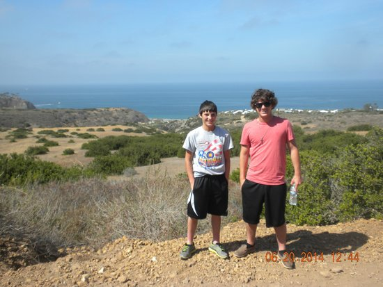 Crystal Cove State Park: On the hiking trail