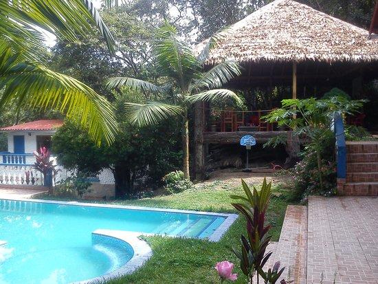 Chulumani, โบลิเวีย: Piscina con jacuzzi y pub Jatata