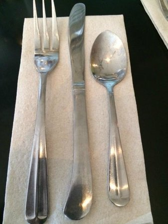 Brown Sugar Kitchen: I liked the silverware. Quaint.