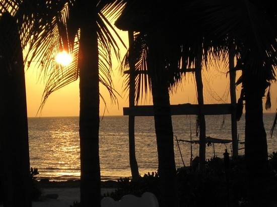 Mandarina Restaurant & Beach club by Casa Las Tortugas: At sunset from our table