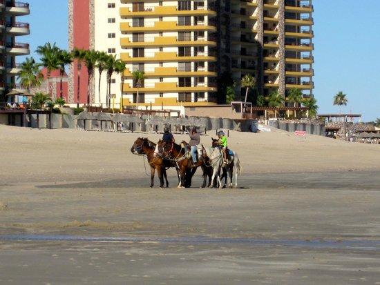 Las Palomas Beach & Golf Resort: horseback riding on the beach