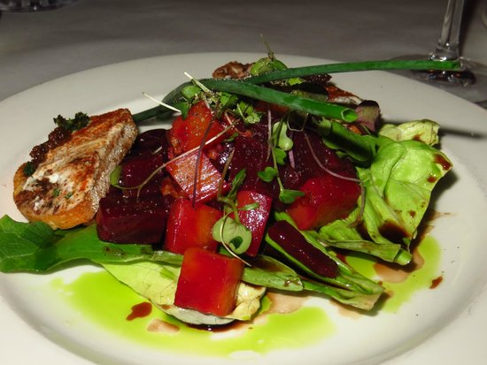 Lahaina Grill: Golden and red beet salad; oven roasted fresh beets, extra virgin olive oil, aged balsamic vineg