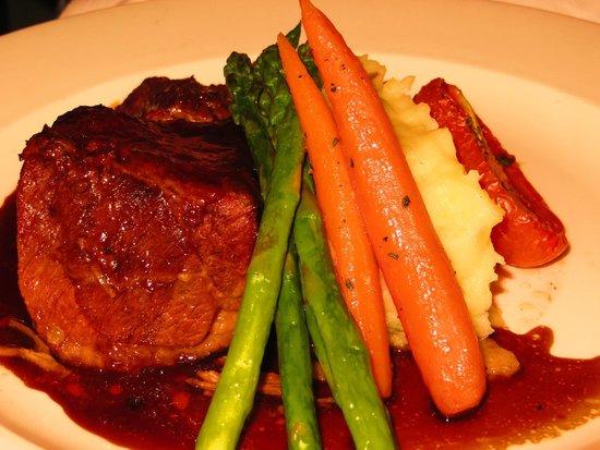 Lahaina Grill: Slow roasted boneless short rib certified angus beef® ribs, herbed mashed potatoes, honey-chipot