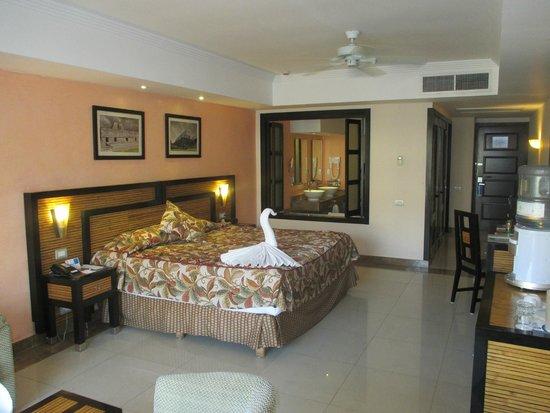 Sandos Playacar Beach Resort : Opened doors into bathroom area