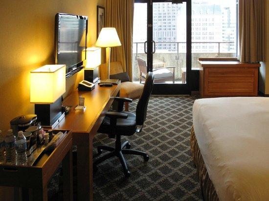 Hilton San Francisco Financial District: King Room Work Area