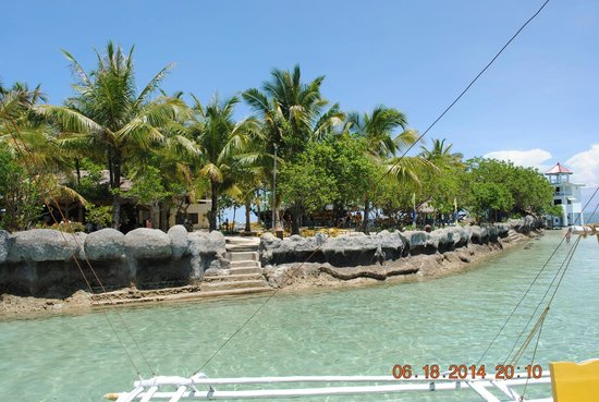 Nalusuan Island Resort: View from the water