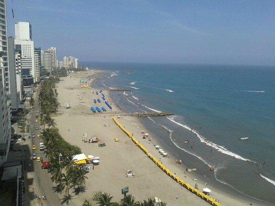 Hotel Capilla del Mar: Vista desde el piso 16