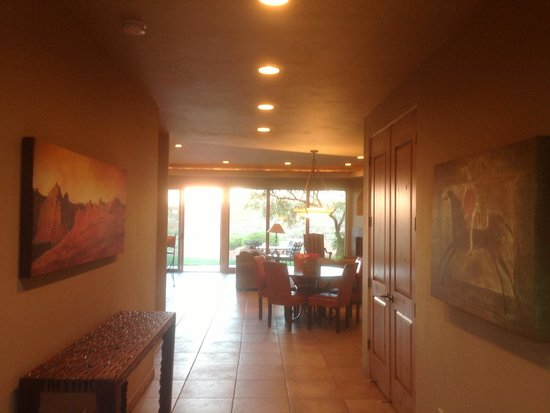 The Inn at Entrada: View to back yard through living room