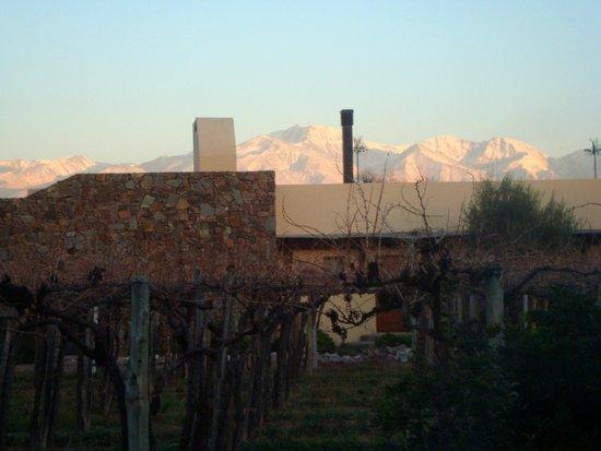 Cavas Wine Lodge: Vista del hotel desde el dormitorio