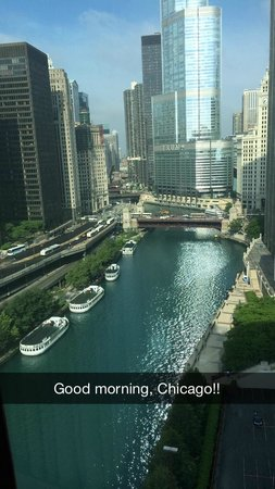 Sheraton Grand Chicago: Beautiful view from my room!!!