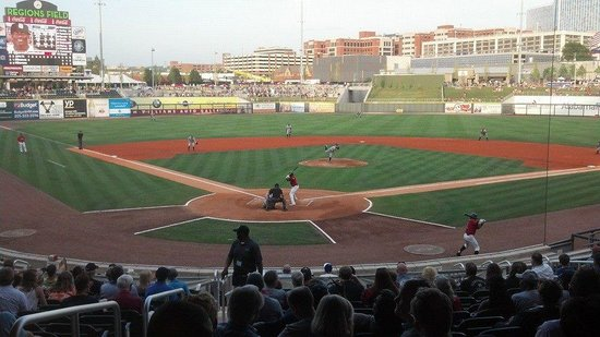 Regions Field: Section 108... right behind homebase