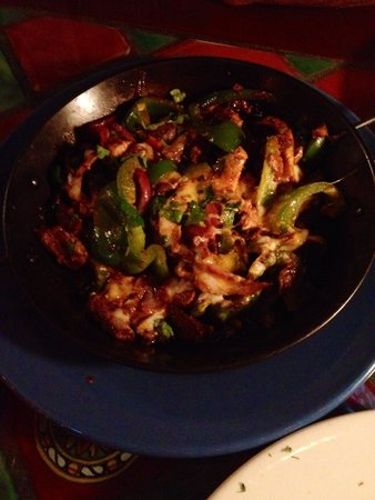 Tijuana Taxi Co.: The Soldado was a really good fajita dish with steak, chicken, peppers and mushrooms with good f