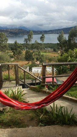 cabin Balcon del Lago : Hammock outside the main house