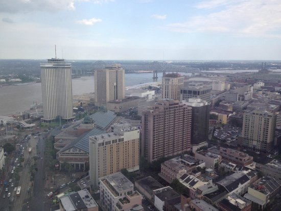 Sheraton New Orleans Hotel : view from my room on the 45th floor
