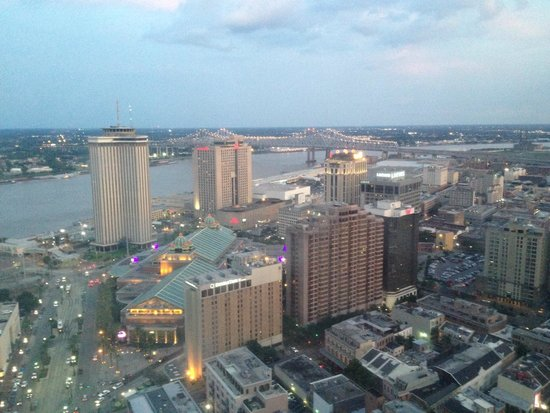 Sheraton New Orleans Hotel: view from my room on the 45th floor