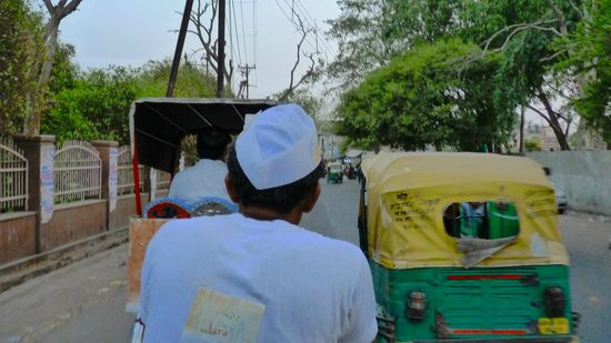 The Agra walks cycle rikshaw (not a fan of this mode, but part of the fabric-be sure to tip extr