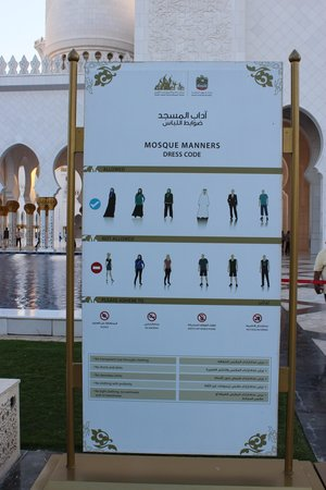 Mezquita Sheikh Zayed: Clothing rules.