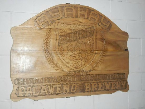 The new sign:  Official taproom of Palaweño Brewery at Matutina Pensionne