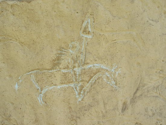 White Mountain Petroglyphs : Petroglyph - White Mountains Wyoming