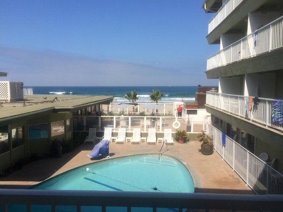 Surfer Beach Hotel: View from balcony room 206