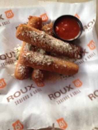 Roux 61 Seafood & Grill: Fresh, Hand rolled Mozzarella Sticks!! Yum