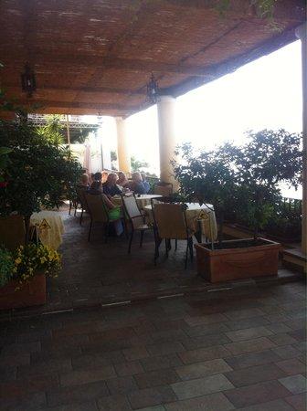 Hotel - Albergo California Positano : Breakfast on the porch.. Lovely views