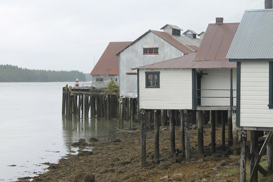 North Pacific Cannery Museum: Looking towards the main building, from the Mess House Cafe