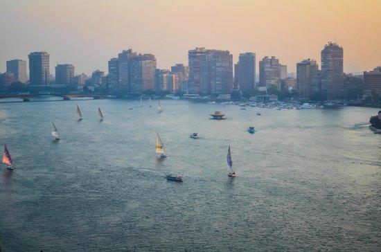 InterContinental Cairo Semiramis: The Nile from room 1523 at the Semiramis Intercontinental, Cairo.
