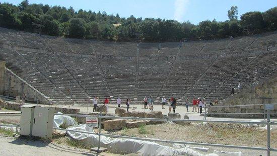 Théâtre d'Épidaure : Epidauros antik tiyatrodan bir görünüş