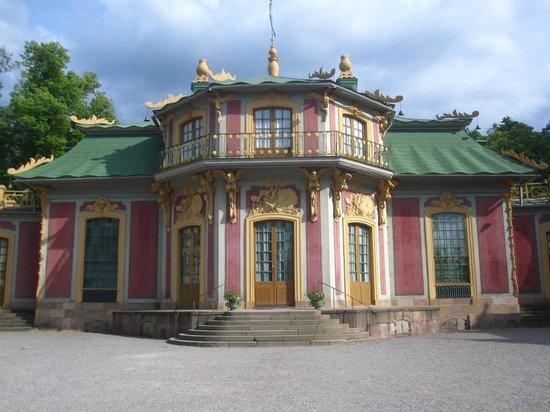 Drottningholm Palace: pink building