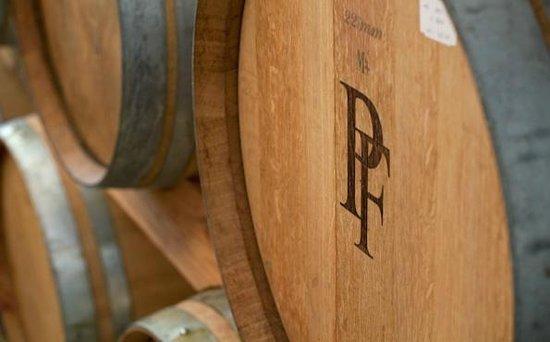 Peter Falke Winery: Barrel cellar