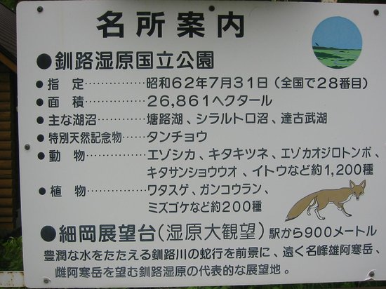 Hosooka Observation : 展望台の案内標示看板