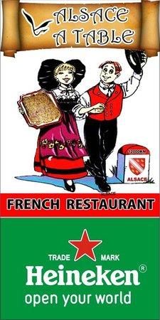 Alsace a Table: Enseigne restaurant Alsace à Table