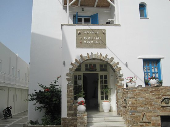 Hotel Galini & Sofia Latina: Front Entrance