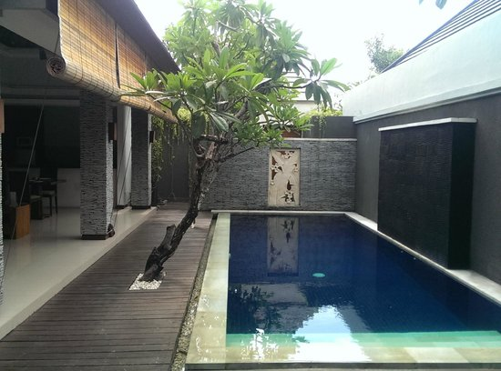 The Wolas Villas & Spa: Our private pool - ready to jump