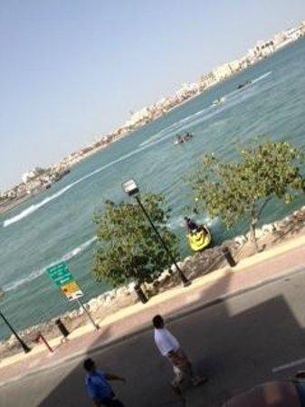 Novotel Bahrain Al Dana Resort: Wanna ride?... bay area near the parking at the hotel