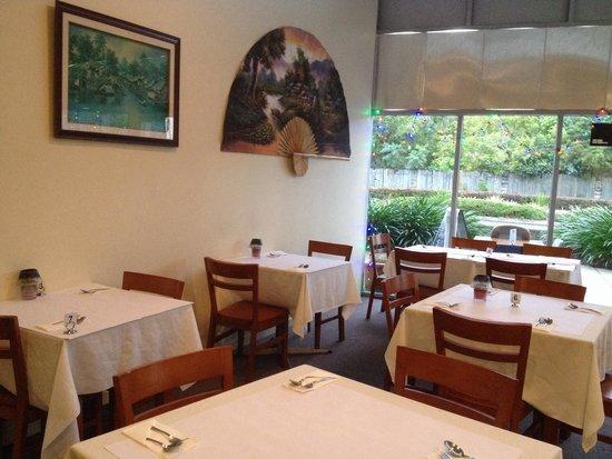 Bangkok Rose Thai Restaurant: Inside restaurant. Taken right on opening hence why it's empty :)