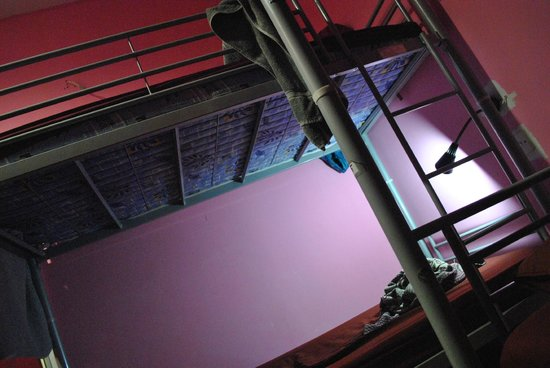 Suzie's Guesthouse and Hostel: bunk beds with lamp