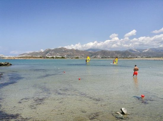 Naxos By, Grækenland: Laguna Beach Park - How to windsurf