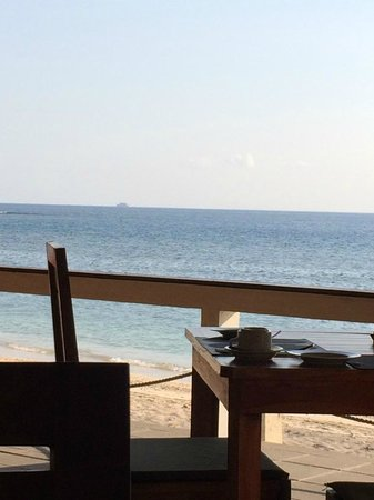 Cocotinos Sekotong, Boutique Beach Resort & Spa: our breakfast view