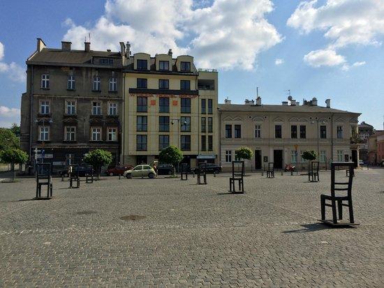 Cracovie : place Bohaterow à Podgorze