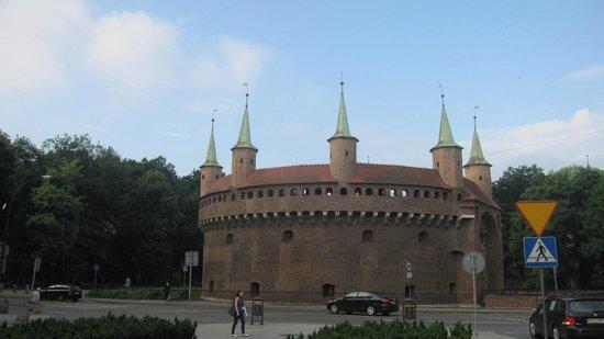 Cracovie : porte saint florian vieille ville