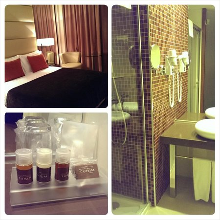 Turim Av Liberdade Hotel : double room & bathroom