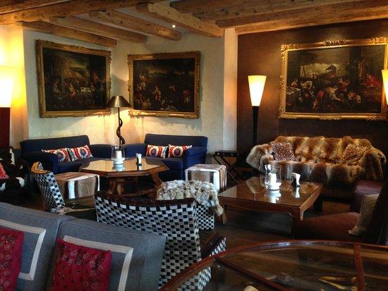 Chalet du Mont d'Arbois : salon hotel